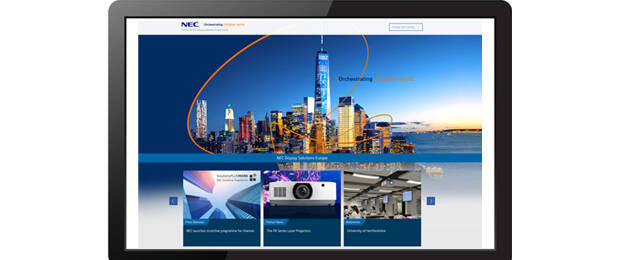 Website von NEC Display Solutions